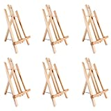 14' A-Frame Painting Easels 6-Pack, Ohuhu 14 Inches Tall Display Stand Tabletop Art Easel Set Mini Wood Painting Easels for Kids Children Artist Student Classroom Table Top Display, Back To School Art