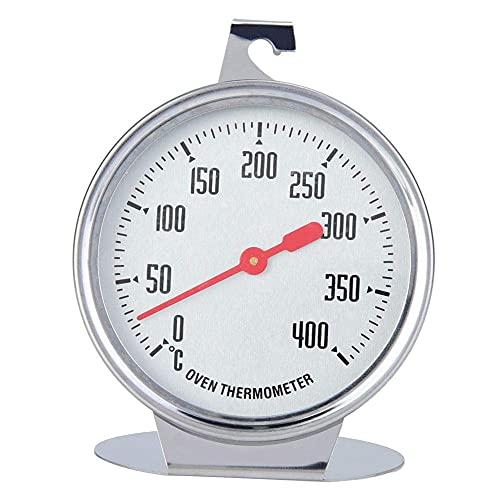 Termometro Forno Elettrico per Cucina con Gancio per Appendere,la Cottura al Forno,Grande Display Digitale con Puntatore Rosso,Acciaio Inossidabile