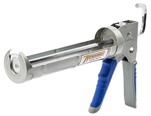 Newborn 930-GTD Drip-Free Smooth Hex Rod Cradle Caulking Gun with Gator Trigger Comfort Grip, 1/10 Gallon Cartridge, 10:1 Thrust Ratio