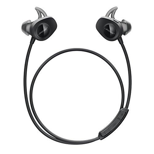 Bose SoundSport, auricolari sportivi wireless, (cuffie Bluetooth resistenti al sudore per jogging), nero