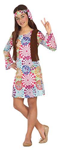 Atosa-20687 Disfraz Hippie, multicolor, 10 a 12 años (20687)