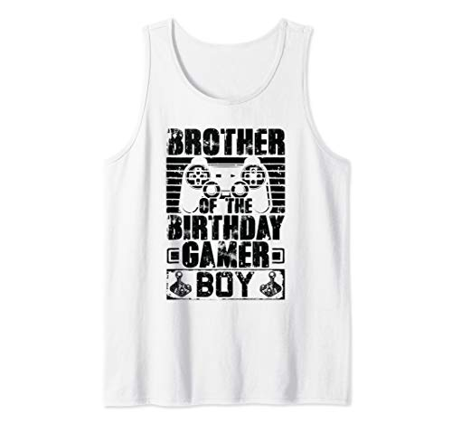 Brother of the Birthday Boy Matching Video Game Birthday Tank Top