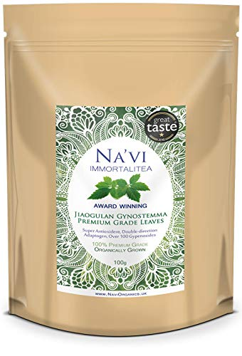 Na'vi Organics | Erstklassiger Bio-Jiaogulan, ganzes Blatt (100 g)