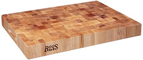 "John Boos Maple Classic Reversible Wood End Grain Chopping Block, 20""x 15"" x 2.25"