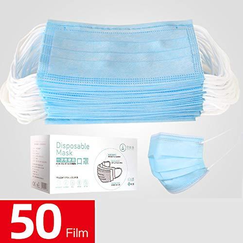 50 pezzi di protezione filtro antipolvere monouso a tre strati consegna rapida