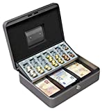 Arregui C9246-EUR Caja de caudales con Bandeja para Euros (Acero), Gris Grafito