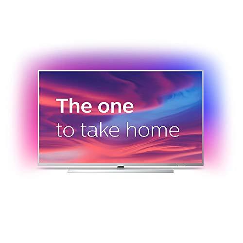 Philips Ambilight 55PUS7304/12 Fernseher 139 cm (55 Zoll) Smart TV (4K, LED TV, HDR 10+, Android TV, Google Assistant, Alexa kompatibel, Dolby Atmos) Hellsilber
