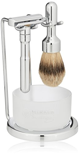 Merkur Futur 4-Piece Shaving Set, Polished Finish, MK-751001