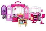 Barbie Mobilier Maison de poupée à Emporter transportable rose et blanche...