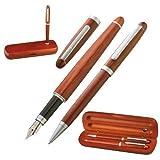GM-IT Ensemble stylo à plume et stylo-bille en bois