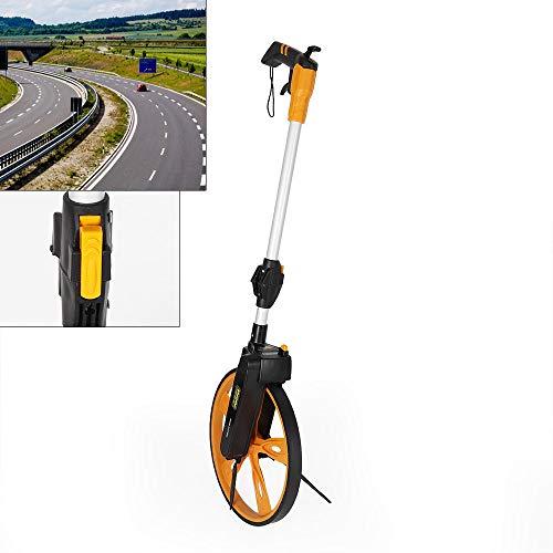 DiLiBee Faltbar Messrad Streckenmessgerät Messroller Genauigkeitsmessung Rad Roller Tachometer Roller Messgerät Rolltacho mit Tasache Neu