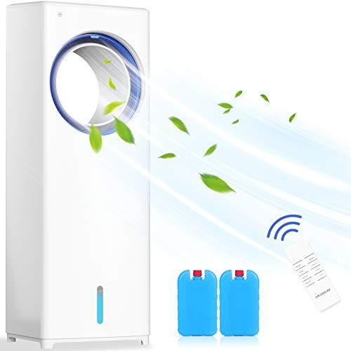 Climatiseur Portable,4 en 1 Refroidisseur d'air Ventilateur Humidificateur d'air Minuterie 8h | 3 Modes | Oscillation 40 ° |3 Niveaux | Oscillant | Climatiseur Mobile avec Télécommande