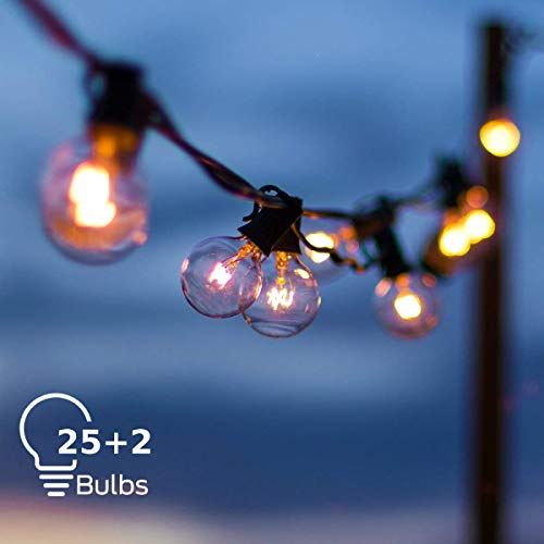 Grezea Outdoor Indoor Globe String Lights with 27 Clear G40 Light...