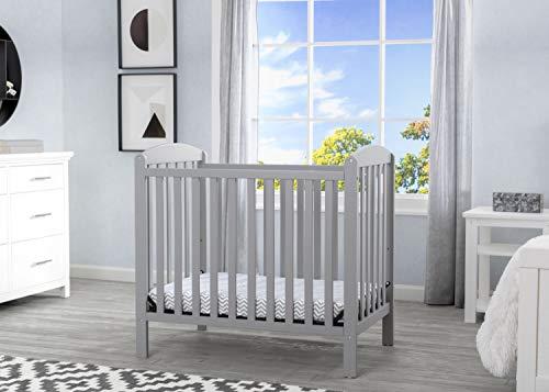 Product Image 2: Delta Children Emery Mini Convertible Baby Crib with 2.75-inch Mattress, Grey