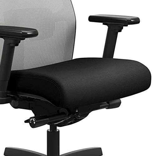 Product Image 8: HON Ignition 2.0 Mid-Back Adjustable Lumbar Work Fog Mesh Computer Chair for Office Desk (Black Fabric)