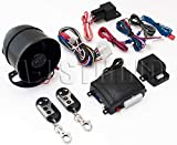 Omega K-9 1-Way Car Alarm with Keyless Entry Vehicle Security System with Shock Sensor