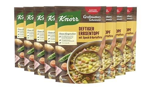 Knorr Großmutters Geheimnis Deftiger Erbsentopf mit Speck und Kartoffeln, 8 x 2 Teller (8 x 600 ml)