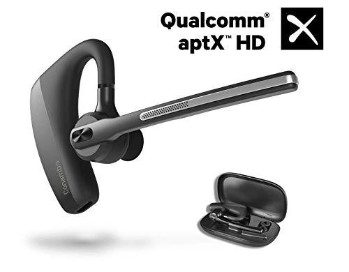 Bluetooth Headset 5.0, aptX HD 16 Hrs Talk Wasserdicht Kabellos Bluetooth Kopfhörer CVC8.0 Freisprech Funk Kopfhörer mit Mikrofon für iPhone Android Handys Kopfhörer Business/Office/Fahren
