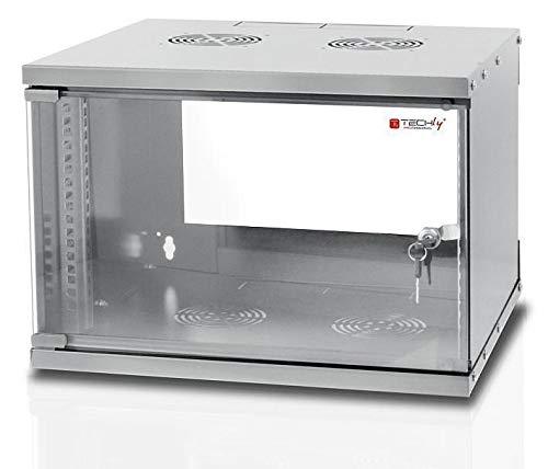 Techly Professional 022212 Armadio Rack 19' a Muro 6U Prof. 320 Grigio Assemblato Grigio