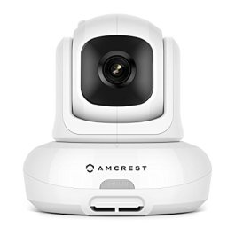Amcrest Video Baby Monitor with Camera, Two-Way Audio, Motion Detection, Pan/Tilt/Zoom, Temperature Sensor, Night Vision, 3.5 inch LCD, 2.4 GHz Wi-Fi with FHSS