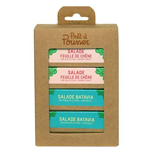 Prêt à Pousser coffret Les Salades - 2X Batavia et 2X Feuille de Chêne - 4 Capsules Pour Votre Potager Lilo ou Modulo …