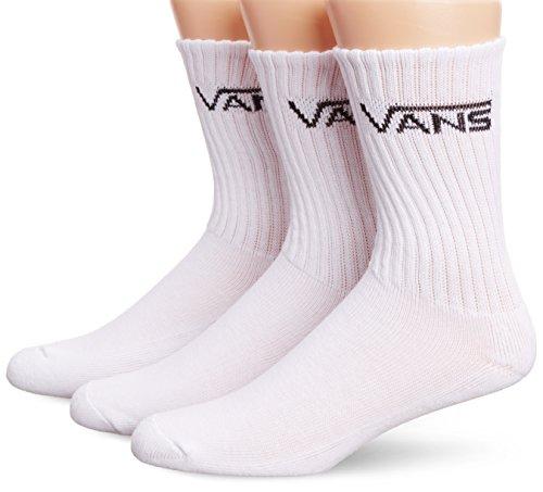 Vans Herren M Classic Crew Socken, 3er Pack, wei (White), 38.5-42 EU