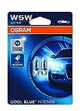 OSRAM COOL BLUE INTENSE W5W lampe halogène, éclairage de plaque, feu de position, 2825HCBI-02B, 12V véhicule de tourisme, blister double (2 pièces)