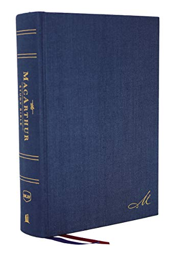 The NKJV, MacArthur Study Bible, 2nd Edition, Cloth over Board, Blue, Comfort Print: Unleashing God's Truth One Verse at a Time