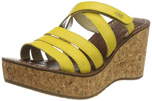 FLY London Gove620fly, Mules Mujer, Amarillo (Bright Yellow 004), 40 EU