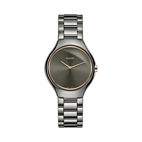Rado True Thinline Damen-Armbanduhr 30mm Armband Keramik Batterie R27956132