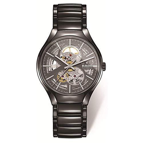 Rado True Open Heart Herren-Armbanduhr 40mm Grau Automatik R27100112