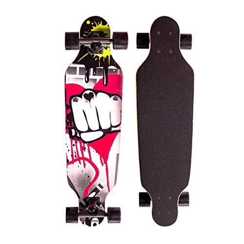 Sumeber 31 inch Longboard Skateboard Cruiser Pro Maple Longboard Drop Through Freestyle Complete...