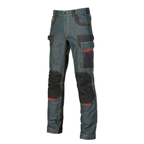 U-Power, pantaloni jeans'Platinum Button Rust', taglia 50, EX069RJ/50