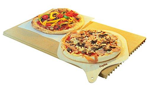 PEPITA - PIETRA DA FORNO e BARBECUE GRANDE 356mm x 570mm con PALA e ricettario inclusi! - Made in...