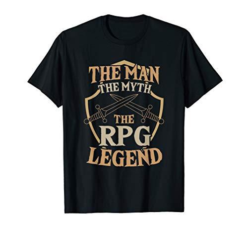 Man Myth RPG Legend Table Top 20 Sided Dice Gamer Smite T-Shirt