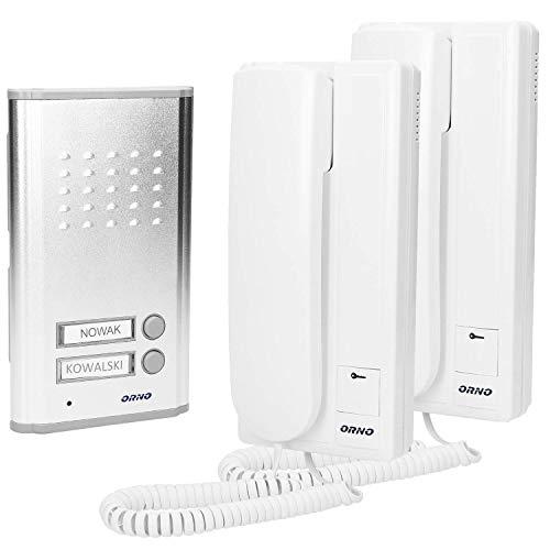 ORNO Fossa Multi Zweifamilien Funk Türsprechanlage Türöffner, Montage: Oberfläche/Unterputz, Erweiterbar mit einem zusätzlichen Uniphone