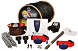 Electric Dog Fence 2 Dogs - 500' of Pro Grade Heavy Duty 14 Gauge Boundary Wire for 1/3 Acre Pet Fence and 7 Correction Levels to Accommodate Dogs