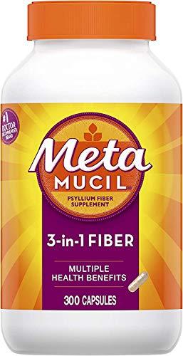 Metamucil, Psyllium Husk Fiber Supplement, 3-in-1 Fiber for...
