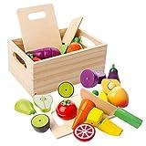 mysunny Juguetes de Cocina de Madera para niños, Juguete magnéticos de Frutas y Verduras...