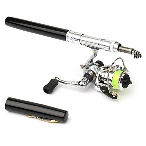 LIXADA ペン型ロッド スピニングリール 釣りロッド 魚竿 渓流竿 万能竿 超軽量 持運び便利 伸縮可能 携帯型 釣り用 初心者釣り 上級者釣り 1M / 1.4M 色/サイズ選択可