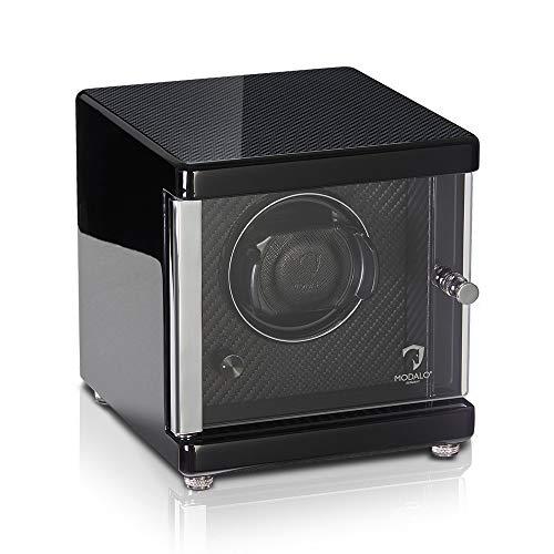 MODALO Uhrenbeweger (Watch Winder) Ambiente MV4 für 1 Uhr Carbon Design