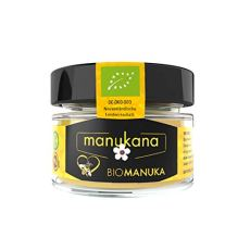 Manukana Bio Raw Manuka Honig | Ethische Imkerei | Echte Gläser (MGO 263+ | 125g)