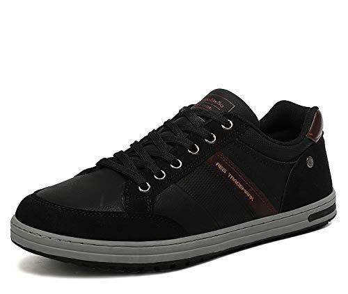 AX BOXING Freizeitschuhe Herren Walkingschuhe Berufsschuhe Sneaker Wanderschuhe Trainers(42 EU, Kohlenschwarz)