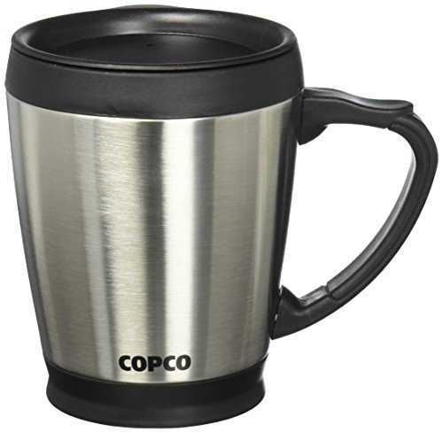 Wilton Double Wall Stainless COPCO Desktop Steel Coffee Mug, 16 Ounces