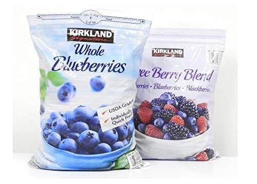 カークランド 冷凍ブルーベリー 2.27kg & カークランド スリーベリーブレンド 1.81Kg 【冷凍品】セット