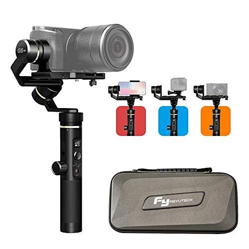 FeiyuTech G6 Plus Gimbal Stabilisateur 3 Axes Handheld Stabilisateur Jusqu'à 800g Compatible avec IPhone Smartphone, DSLR Caméra Sans Miroir et Gopro héros caméras d'action.