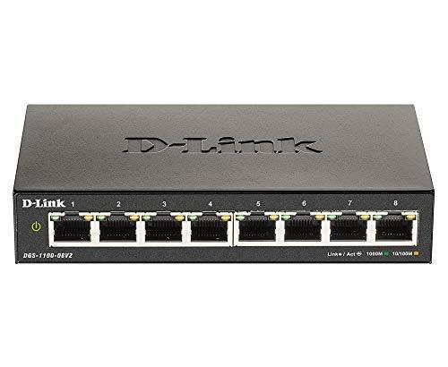 D-Link DGS-1100-08V2 Smart Switch Gestito, 8 Porte...