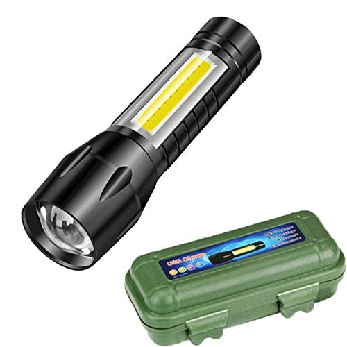 Care 4 Tactical Flashlight + Desk Lamp with Gift box Focus Zoom Torch Light with 3 Modes Adjustable for Emergency and Activities EDC 911
