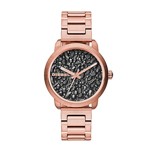 Diesel Damen Analog Quarz Uhr mit Edelstahl Armband DZ5427
