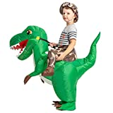 GOOSH Dinosaur Inflatable Costume for Kids,Blow Up Halloween Costume Kids,trex Inflatable Costume Kids